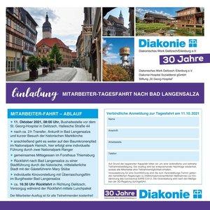Einladung zur Mitarbeiter-Tagesfahrt nach Bad Langensalza