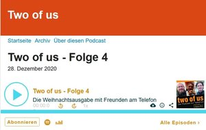 Ansicht der Podcast-Seite